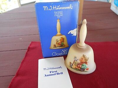 M.I. HUMMEL GOEBEL 1978 FIRST EDITION ANNUAL BELL in BAS-RELIEF - NEW w/BOX