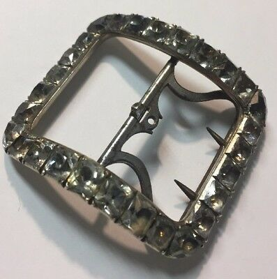 Beautiful, LARGE mid-late 18th Century Shoe Buckle Silver Paste Steel