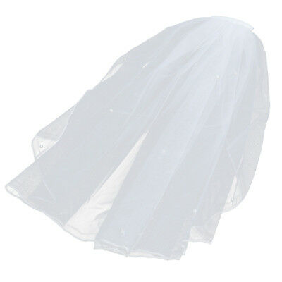 Short Wedding Veil with Pearl for Bride Wedding Party Flower Girl Bridal Shower