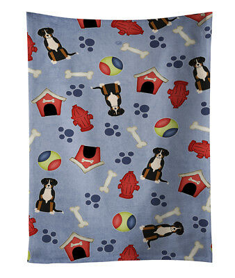 Dog House Collection Greater Swiss Mountain Dog Kitchen Towel