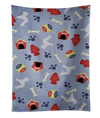 Bedlington Terrier Dog House Collection Kitchen Towel