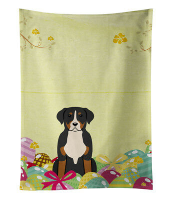 Easter Eggs Greater Swiss Mountain Dog Kitchen Towel