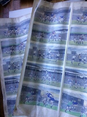 Vintage ceramic decals, water slide transfers, large collection.(Football)