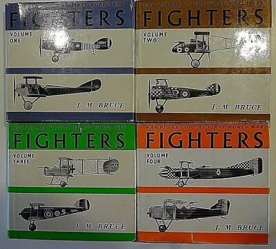 War Planes Of The First World War Fighters - Bruce - Four Volume Set - Rare!!