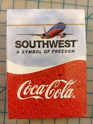 Southwest Airlines & Coca-Cola Sealed Deck Playing Cards - SWA Coke
