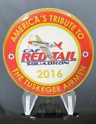 2016 Tuskegee Airman America's Tribute CAF Red Tail Squadron Challenge Coin