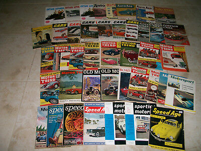 Lot of 44 Vintage 1950s Car Magazines 1951 1952 1953 1954 Rare Auto Collection