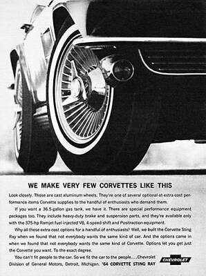1963 Chevrolet Corvette Stingray #7 Vintage Car Poster Print Wall Art Sign Auto