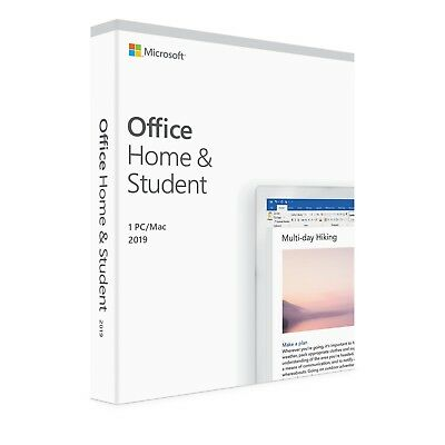 New Microsoft Office 2019 Home & Student for PC & Mac - ESD Version