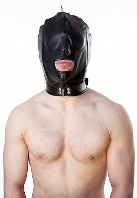 Ledermaske Maske dickes Leder Mask Leather gay muscle  Bondage ISOLATION