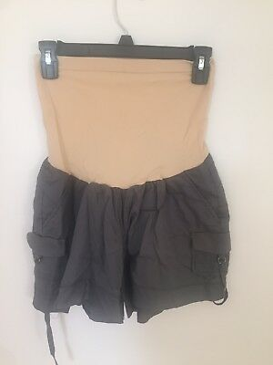 Motherhood Maternity Gray Over Belly Shorts GUC Size Large
