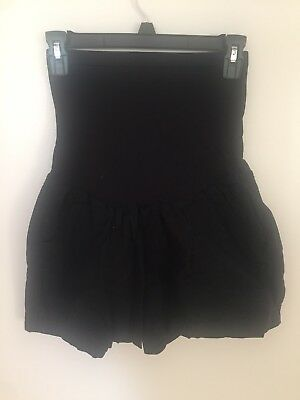 Motherhood Maternity Black Over Belly Shorts GUC Size Large