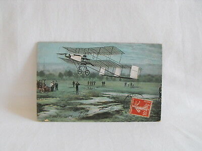 French aviation postcard Henri Farman pioneer manufacturer & record holder 1909