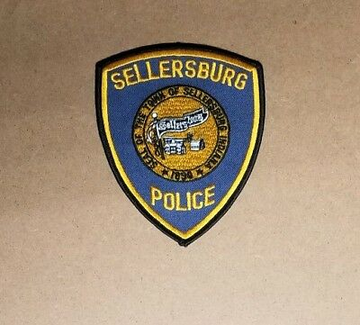 Full Color Sellersburg Indiana IN Floyd County Police Patch sheriff fire ems