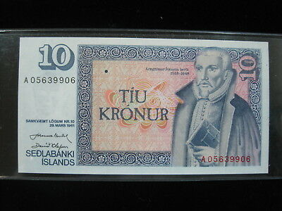 Iceland 10 Kronur 1961 Island 98# Bank Currency Banknote Money
