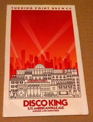 Beer pump clip badge front TURNING POINT brewery DISCO KING cask ale York