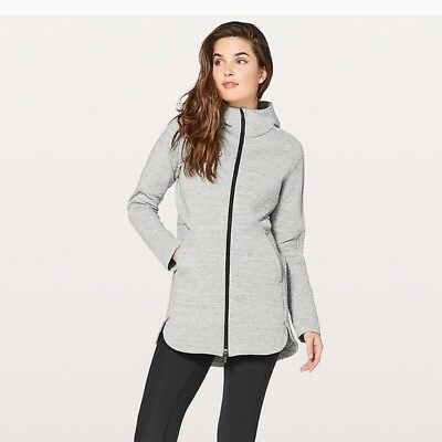 **NICE** LULULEMON Going Places Hooded Jacket Grey 6! Excellent Condition! $148
