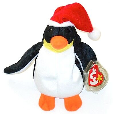 Ty Beanie Babies 1998 Zero Santa Hat Penguin Retired NEW with Tags