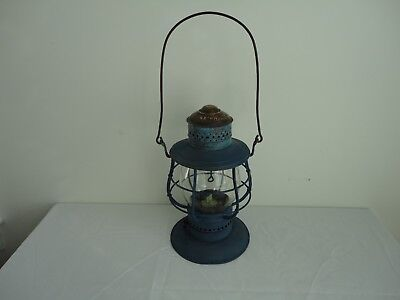 Antique Brass Top Bell Bottom NO.39 Railroad Lantern