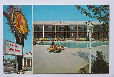Riverhead Quality Courts Motel in the Hamptons New York Vintage Chrome Postcard
