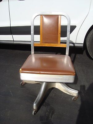 Office Chair Arm Desk Industrial Modern Wooden Metal Shaw Walker Deco Art