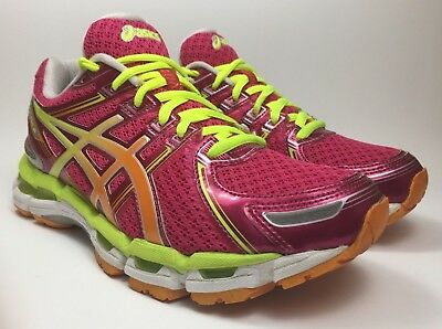 f4414da1c0bd Women s Asics Gel Kayano 19 T350N Raspberry Mango Lime Running Shoes Size 8