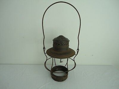 Antique Brass Top Railroad Lantern Cage Part marked 90