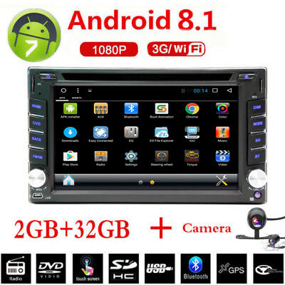 Android 8.1 GPS Navigation 32G 2Din Car DVD Player Stereo Radio  WIFI