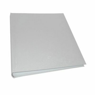 White Satin Large Wedding Traditional Photo Album - 100 Sides