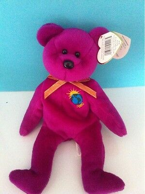Ty Beanie Babies Collection Millennium Bear Plush Stuffed Animal Toy 1999