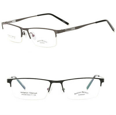 Half-rim Imitation titanium optical Eyeglass frames business glasses RX Eyewear