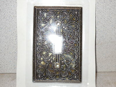 Vintage Looking Antique Brass Single Light Switch Plate Outlet Cover