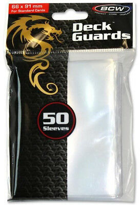 Bcw Deck Protectors Standard Clear (50 Sleeves Per Pack)  - BRAND NEW
