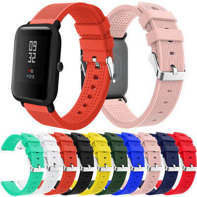 Replacement Soft Silicone Wirstband Band Strap For Xiaomi Huami Amazfit Bip