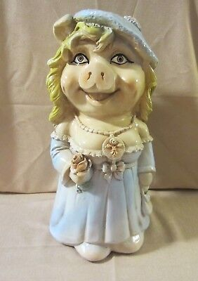 """Miss Piggy Bank by Limoges Creations of Brooklyn, NY in 1981 - 18"""" in Ceramic"""