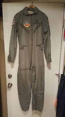 Vintage Vietnam War TAS K-2B Flying Suit Coverall Tactical Air Command Small Reg