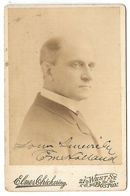 Original Autographed Cabinet Card Photo of Stage Actor E.M. HOLLAND
