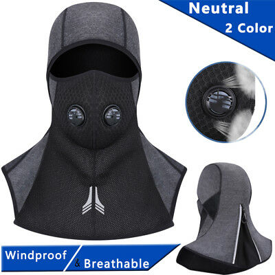 Full Face Mask Zipper Motorcycle Cycling Ski Thermal Winter Sport Cap Cover Hats