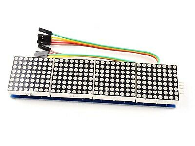 8x8 Dot-Matrix (green) MAX7219, 4 Modules, cascadable, for Arduino etc.    #2945