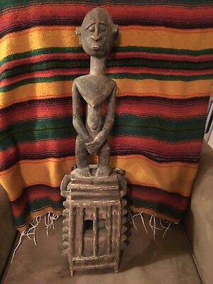Intriguing Dogon Mask with Figure, Great Condition