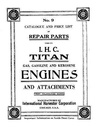 IHC Titan Engines Repair Parts CD 1918