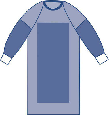 Sterile Poly-Reinforced Aurora Surgical Gowns with Raglan Sleeves 1 EA
