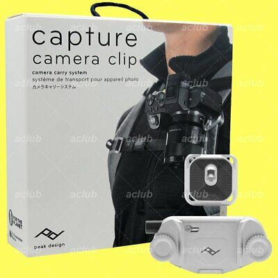 Peak Design Capture V3 Camera Clip with Standard Plate CP-S-3 (Silver) 2018 New