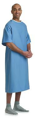 Medline Hyperbaric Patient Gown,Blue,One Size Fits Most-MDTPG5RTSHYP, Pack of 12