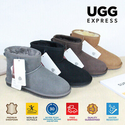 UGG Boots Premium AU Sheepskin Mini classic Ankle/Medium Boots Water Resistant