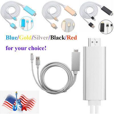 for Apple iPhone 7plus XS MAX 6S 8Pin to 1080p HDMI HDTV AV TV Adapter Cable