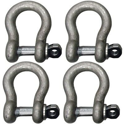 """4pak 5/8"""" Shackle Screw Pin Clevis Anchor Shackles for Rope Cable Chain Rigging"""