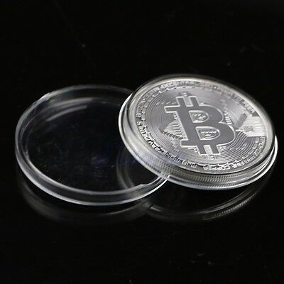 Round Collectors Coin Bit Coin Silver Plated Coins