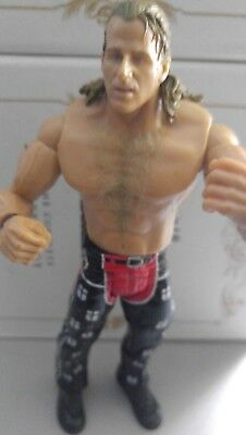 WWE WWF Jakks Wrestling Figur 2005 HBK Shawn Michaels (Red & Black Tights)