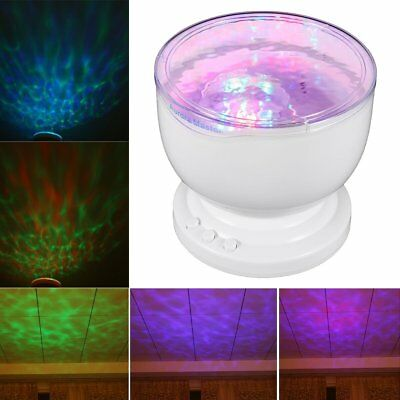 LED Light Projector Multicolor Ocean Wave Night Lamp Effects Hologram Gift USA